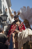Holy Week in Seville, Brotherhood of San Esteban Stock Photo
