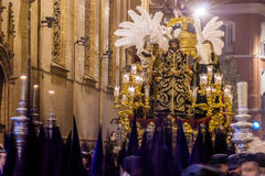 Holy Week in Seville, Christ of the Judgement. Jesus of the Judgement is a famous procession on Good Friday (Early Hours) in Seville. It belongs to the religious Royalty Free Stock Photo