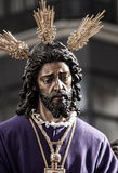 Holy Week in Seville Jesus captive and rescued. Step mystery of the brotherhood of jesus captive polygon through the streets of Seville at Easter or Passover Stock Photo