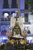 Holy Week in Seville Jesus died in the arms of his mother, brotherhood of Baratillo Royalty Free Stock Photos