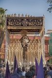 Holy Week in Seville, Virgin of the victory of the brotherhood of the tobacco companies Stock Photography