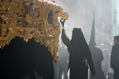 Incense in the processions of the Catholics. Easter week in the streets Royalty Free Stock Images