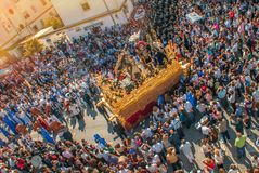 Holy week in Spain, the procession. stock photography