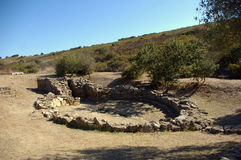 Holy well Sa Testa, Sardinia. Holy well Sa Testa , nuragic site of eastern sardinia, near Olbia royalty free stock images