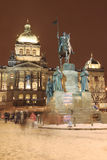 Holy Wenceslas on the Horse in Prague Stock Photo