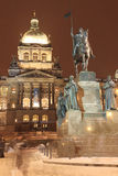 Holy Wenceslas on the Horse in Prague Stock Images