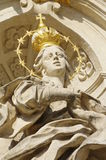 Holy woman stone statue religion Royalty Free Stock Images
