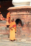 Holy Women In Nepal. royalty free stock photo