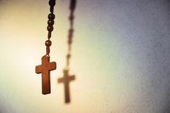Holy Wooden Christian Cross. stock photography