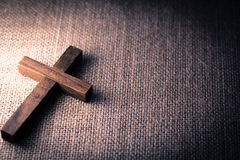Holy Wooden Christian Cross Royalty Free Stock Photography