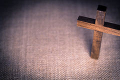 Holy Wooden Christian Cross Royalty Free Stock Image