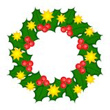 Holy Wreath Christmas Illustration. Stock Photography