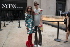 Holychild på New York City fashionweek, vår 2016 Royaltyfri Foto