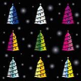 Holyday drzewa wzoru kolor Fotografia Stock
