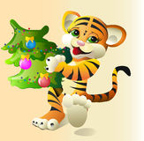 Holyday Tiger Royalty Free Stock Photo