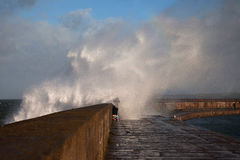 Holyhead Breakwater Stock Photo