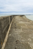 Holyhead Breakwater. The Victorian Breakwater (1.7 miles long) at Holyhead, Anglesey, Wales, United Kingdom Stock Photos