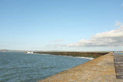 Holyhead breakwater. Royalty Free Stock Photo