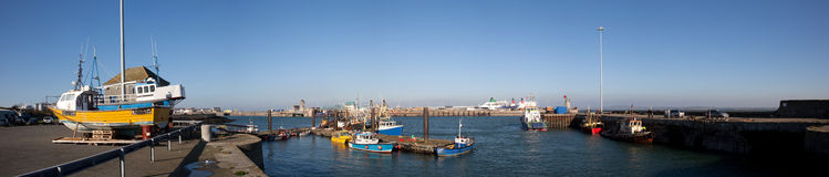 Holyhead harbour Stock Photo