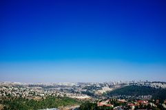 Holyland系列- Kastel全国公园看法向耶路撒冷 库存照片
