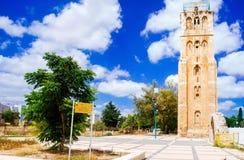 Holyland系列-拉姆拉的白色塔 免版税库存照片