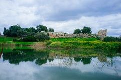 Holyland系列- Afek国家公园panorama#2 免版税库存图片