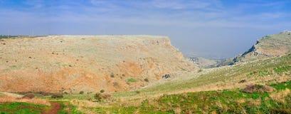Holyland Reihe-Mt. Arbel-Panorama Stockbild