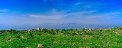 Holyland serie - Golan Heights Panorama Arkivbilder
