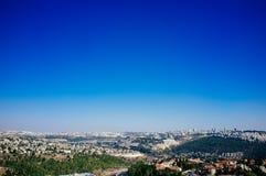 Holyland serie - Kastel nationell Parkera-sikt till Jerusalem arkivfoton