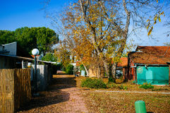 Holyland serie - kibbutznedgångfärger arkivfoto