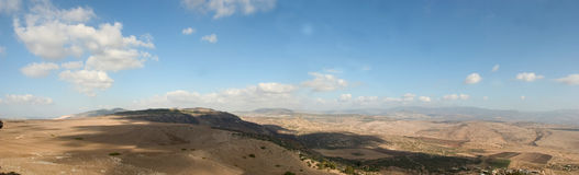 Holyland series-Galilee Panorama. A panoramic view of the lower Galilee area at the end of the summer. 2nd image from the Holyland Series Royalty Free Stock Photo