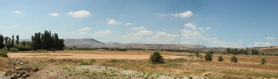 Holyland series-Ginosar Valley. Between Tiberias and Caper Nahum theres a vast valley called after the name of Kibbutz Ginosar. Near by, archeologists found a Royalty Free Stock Photography