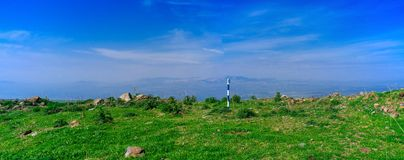 Holyland Series - Golan Heights Panorama. Typical landscape of the Golan Heights, northern Israel Stock Images