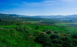 Holyland Series - Lower Galilee Panorama#5 Stock Photo