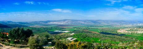 Holyland Series - Lower Galilee Panorama#1 Stock Photography