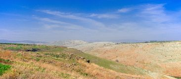 Holyland series-Mt. Arbel. Mt. Arbel is a high ridge above the sea of Galilee, from which you can see Golan Heights, Jordan, Galilee and of course, the Sea of Stock Image