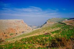 Holyland series-Mt. Arbel No. 2. Mt. Arbel is a high ridge above the sea of Galilee, from which you can see Golan Heights, Jordan, Galilee and of course, the Sea Stock Photo