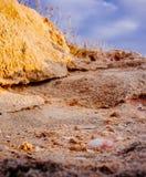Holyland Series -Palmachim National Park#4. Dusk colors of Limestone and seashells at Palmachim Nature reserve Royalty Free Stock Photography