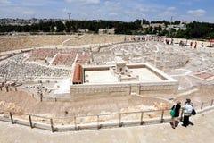Holylandmodel van Jeruzalem Stock Fotografie