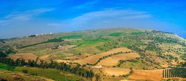 Holylandreeks - Galilee-landschapspanorama Stock Afbeelding