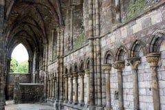 Holyrood Abbey. Ruins at Holyrood Palace in Edinburgh Scotland Britain Royalty Free Stock Image