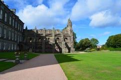 Holyrood Abbey and Holyrood Park Royalty Free Stock Image