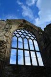 Holyrood Abbey Window Ruins Fotografering för Bildbyråer