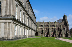 Holyrood Palace and Abbey in Edinburgh, Scotland Royalty Free Stock Photos
