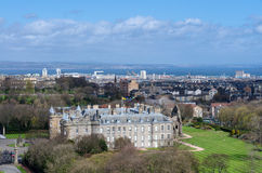 Holyrood Palace and Abbey in Edinburgh, Scotland Royalty Free Stock Images