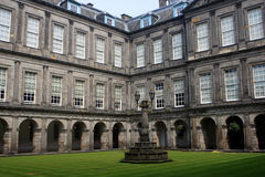 Holyrood Palace, Edinburgh. Holyrood Palace, the official residence of the Monarch of the United Kingdom in Edinburgh, Scotland stock images