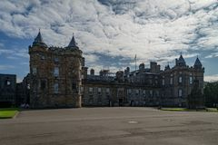 Holyrood Palace in the end of the Royal Mile in Edinburgh. Scotland on a sunny day Royalty Free Stock Photos