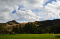 Holyrood Park and Arthur's Seat in Scotland Stock Image