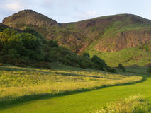 Holyrood Park at Sunset Royalty Free Stock Photo