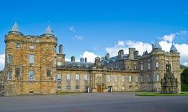 Holyrood slott, Edinburgh, Skottland Arkivfoto